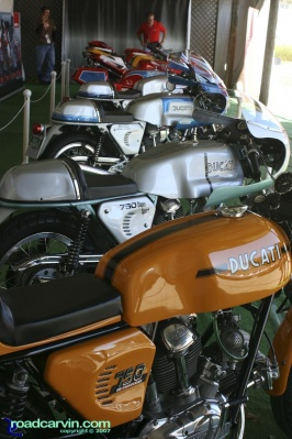 The Bikes (I): Contestants bikes starting with the 1973 Ducati 750 Sport.